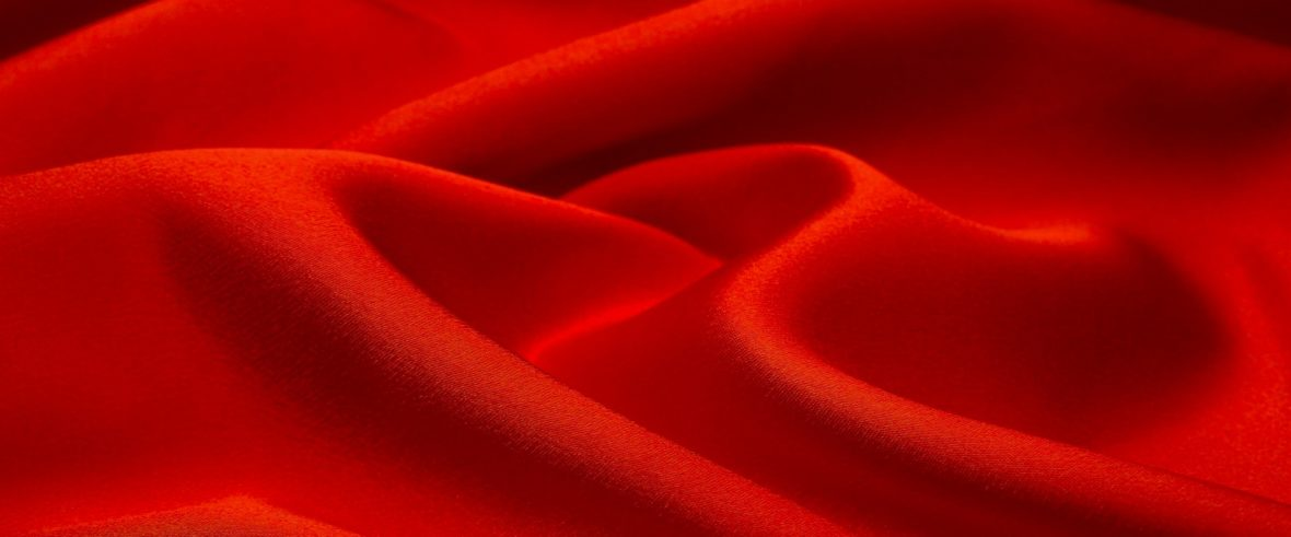 folds of red cloth